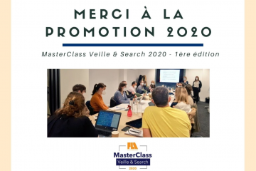 Merci à la promotion 2020 de la MasterClass Veille & Search  ... Image 1